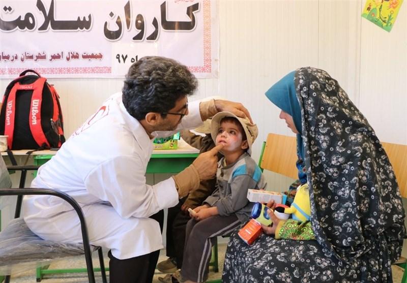 پنجمین کاروان سلامت جمعیت هلال احمر به روستاهای ذکری و گل نی خراسان جنوبی اعزام شد