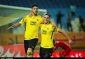 لیگ برتر فوتبال| برتری یک نیمهای سپاهان مقابل سایپا