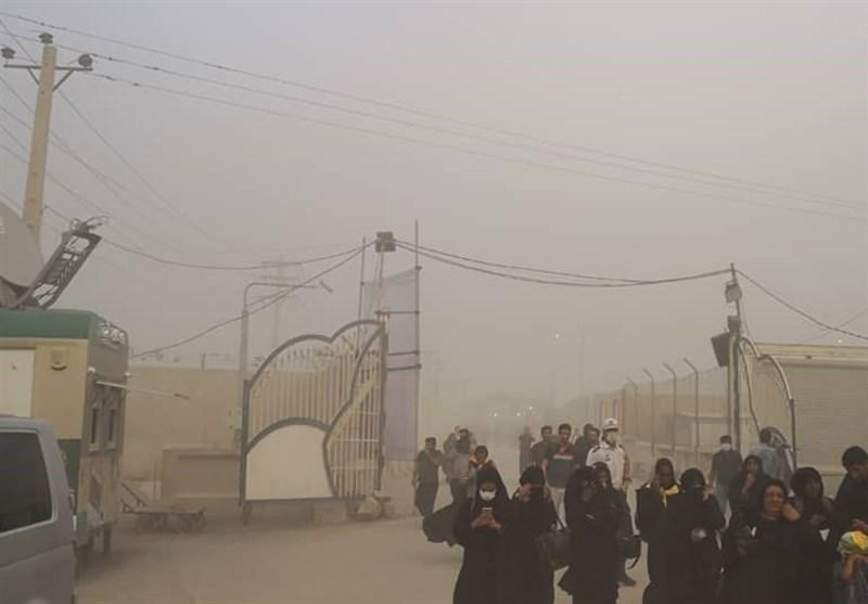 اربعین حسینی| وقوع طوفان خاک در مرز چذابه و غافلگیری زائران و مسئولان ستاد اربعین+ فیلم