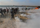 اصابة 20 فلسطینیا جراء اعتداء الاحتلال الصهیونی فی الحراک البحری شمال غزة
