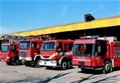 نجات دهها نفر در آتشسوزی ساختمان در حال ساخت در خیابان ولیعصر(عج)