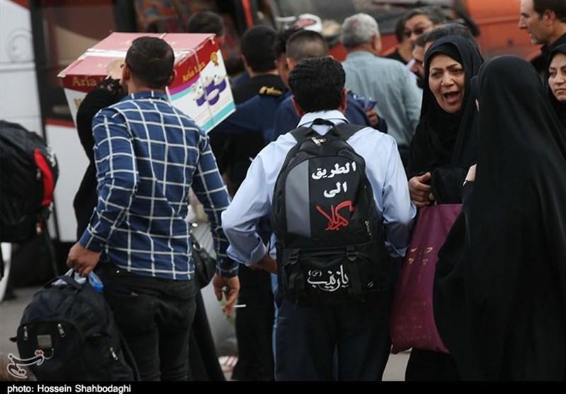 پوشش راهپیمایی زائران اربعین حسینی از شبکه جهانی امام رضا(ع)