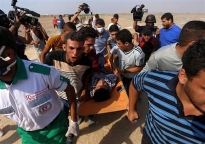 اصابة 25 فلسطینیا اثر اطلاق الاحتلال الرصاص على المشارکین فی المسیر البحری الـ 16