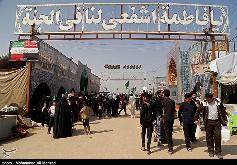 موکب آستان مقدس حضرت معصومه(س) در مسیر پیادهروی اربعین به روایت تصویر