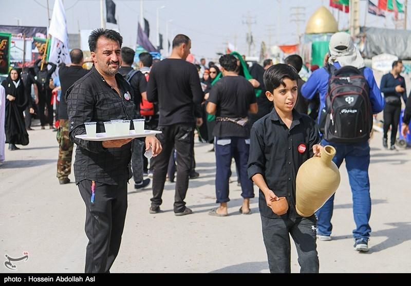 اربعین حسینی|طریق الحسین مملوء از زائران و دلباختگان حسینی+فیلم