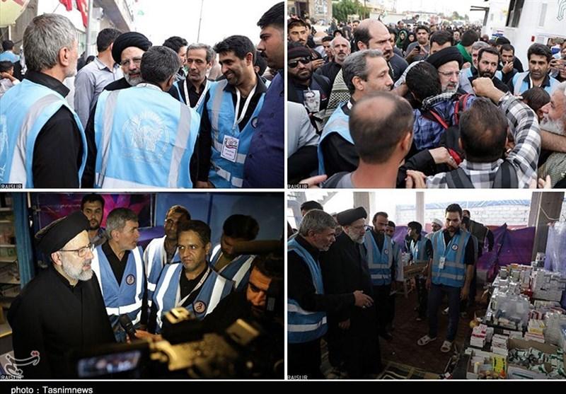 حضور حجت الاسلام رئیسی در پیادهروی اربعین+تصاویر