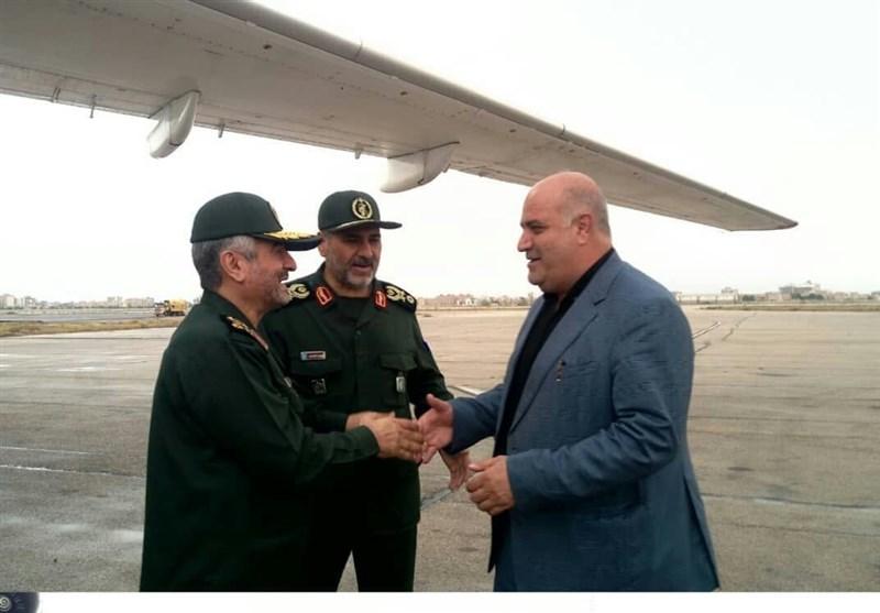 فرمانده کل سپاه وارد خرمشهر شد/بازدید سرلشکر جعفری از دو پایانه مرزی شلمچه و چذابه