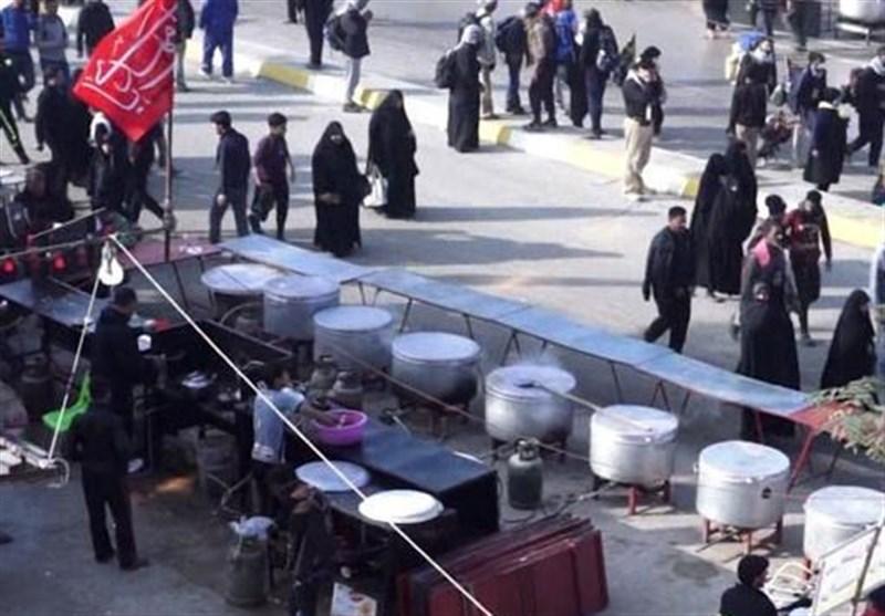 برگزاری مراسم عزاداری ۸ موکب مهاجران افغانستانی مستقر در مرز شلمچه