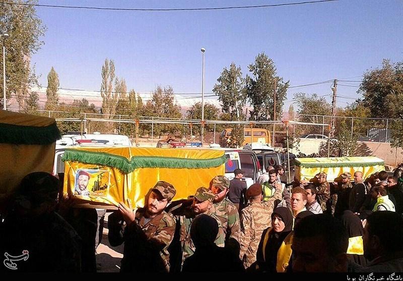 پیکر شهدای تازه تفحص شده حزب الله تشییع شد+عکس