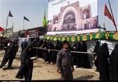 پیادهروی زائران رضوی| پذیرایی از 3 هزار زائر حرم رضوی در موکب شهر خضری 