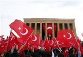 برگزاری روز جمهوری ترکیه با حضور اردوغان و رهبران سیاسی در آرامگاه آتاتورک