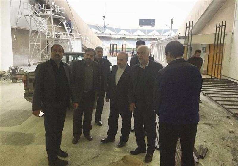 بازدید سلطانیفر از روند آمادهسازی ورزشگاه آزادی + عکس