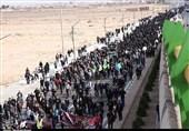 برگزاری پیادهروی جاماندگان اربعین حسینی در کاشان+تصاویر