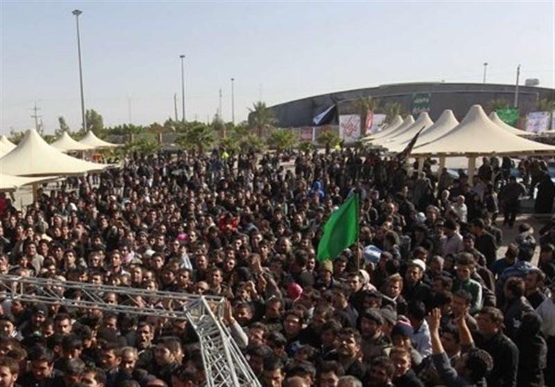حضور بی سابقه زائران اربعین حسینی در مرز مهران