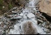 خوزستان| چشمه های خشکیده بخش سوسن ایذه جاری شدند
