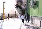 هواپیمای اسقاطی ماهان در فرودگاه امام آتش گرفت + عکس