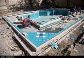 اتمام فاز نخست مرمت حمام تاریخی نظام کرمانشاه + تصاویر