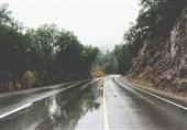 بارش در محورهای مواصلاتی 3 استان