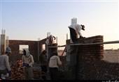 کرمان| حضور 6 ماهه گروه جهادی در گرمای طاقتفرسای روستای هیرگلو