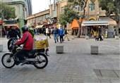 تاخت و تاز موتورسیکلتها در پیادهراه بوعلی همدان