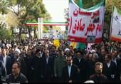 حماسه مردم آذربایجان شرقی در راهپیمایی 13 آبان به روایت تصویر