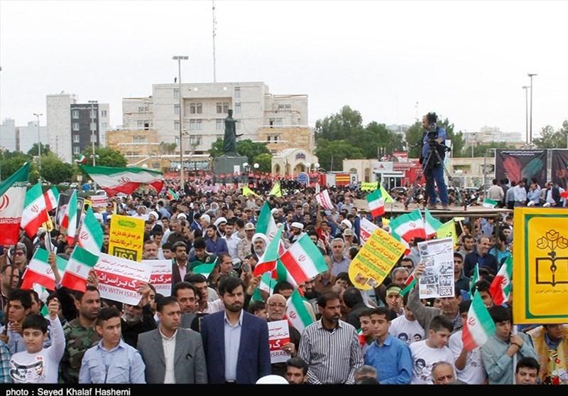 راهپیمایی 13 آبان بوشهر به روایت تصویر