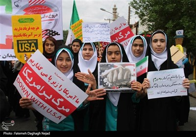 Iranians People Mark 39th Anniversary of 1979 US Embassy Takeover in Capital (+Video)