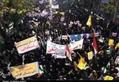 گلستان|نگارستان ایران پاسخ تهدیدهای مستکبران را با فریاد « مرگ بر آمریکا» داد+فیلم