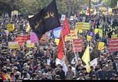 حضور پر شور مردم کرمان در راهپیمایی 13 آبان به روایت تصویر