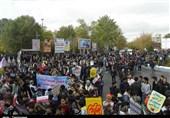 مراسم راهپیمایی 13 آبان در شهرستانهای استان تهران برگزار شد