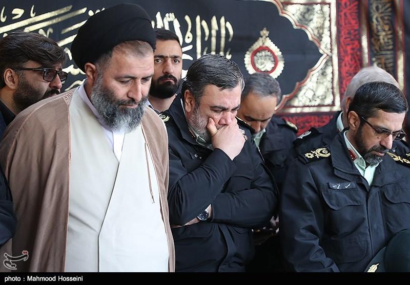 تشییع 3 شهید گمنام در ستاد ناجا
