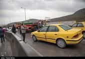 تصادف زنجیرهای در محور مشهد ـ تهران؛«تصادفها» در قطعه دامغان ـ سمنان «ترافیک» ایجاد کرد