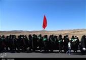 اهداء پرچم و شابلون عزاداری به زائران بارگاه منور رضوی+فیلم