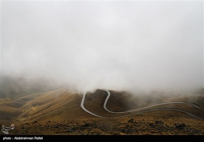 بارش برف و مه شدید در ارتفاعات همدان