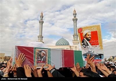 تشییع شهید مدافع حرم حجتالاسلام محمدحسن دهقانی- قم