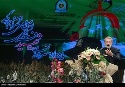 سخنرانی علی لاریجانی رئیس مجلس شواری اسلامی در مراسم یادواره هزار و 500 شهید فرماندهی نیروی انتظامی تهران بزرگ