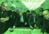 آستان مقدس امامزادگان آقا علی عباس و شاهزاده محمد (ع) بادرود غبارروبی شدند