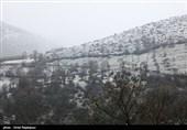 سمنان| برف ارتفاعات مهدیشهر را سفیدپوش کرد