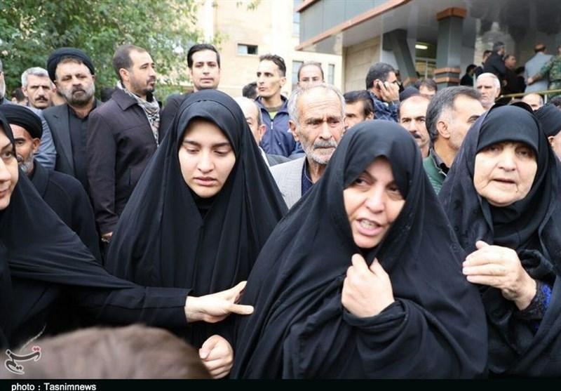 سخنان همسر شهید «سید نورخدا موسوی» در تشییع همسرش+فیلم