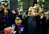 مراسم شام عزای امام رضا (ع) در کاشان برگزار شد+تصاویر