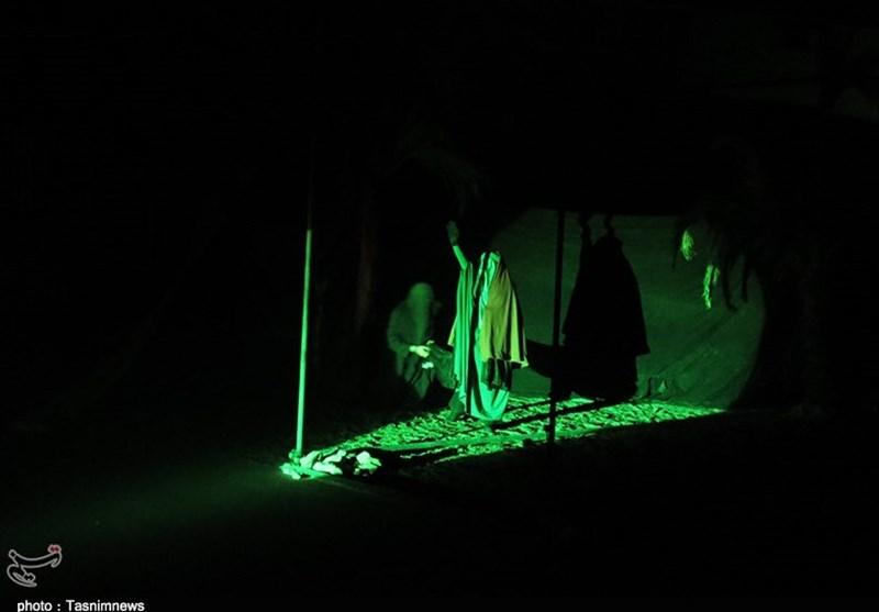 نمایش «ردای سرخ خورشید» در زنجان به روایت تصویر