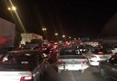 ترافیک در محورهای استان سمنان سنگین است
