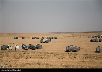 دپوی کامیون های نفتکش سوریه