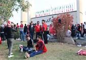 حاشیه بازی پرسپولیس ــ کاشیما آنتلرز| حضور هواداران پرسپولیس از ساعات اولیه صبح + عکس
