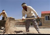 زلزله کرمانشاه  گامهای استوار جهادگران در مسیر بازسازی مناطق زلزلهزده+فیلم