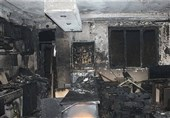 خاکستر شدن منزل مسکونی در آتش/ نجات 10 نفر از ساکنان + تصاویر