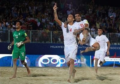 ایران تفوز ببطولة کأس القارات لکرة القدم الشاطئیة