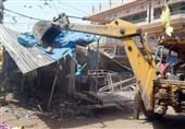 7 مغازه شهربازی پارک ملت سنندج تخریب شد