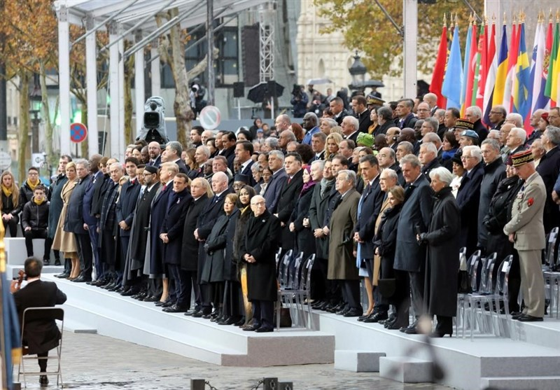 Image result for pics of 100th anniversary in Paris of ending of WWI
