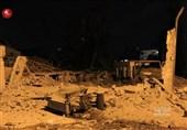 فیلم حمله موشکی اسرائیل به شبکه تلویزیونی «الاقصی»